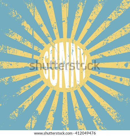 Sunny vintage grunge Background - stock vector