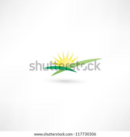 Sunrise Icon - stock vector
