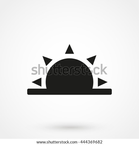 sunrise icon on white background in flat style. Simple vector illustration - stock vector - stock vector