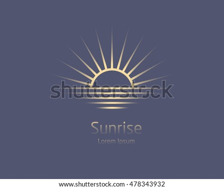 sunrise. vector logo template