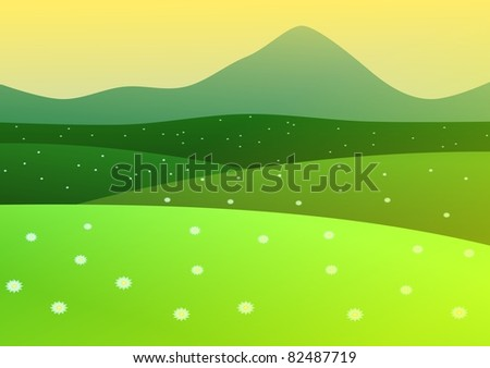 Sunset background - stock vector