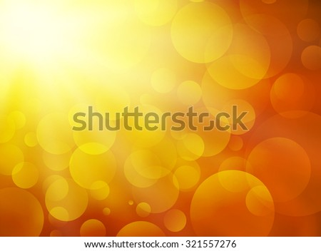 sunset blurred circle background - stock vector