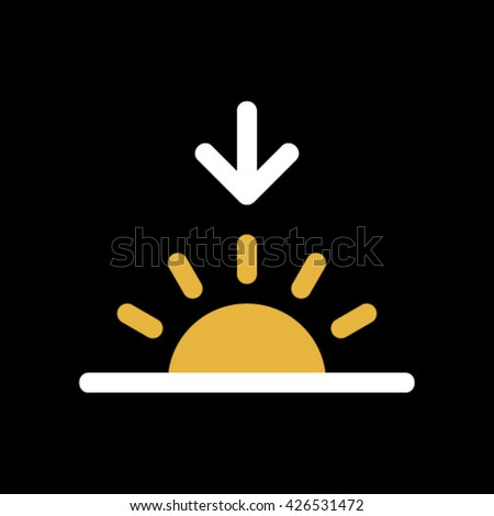 Sunset icon. - stock vector