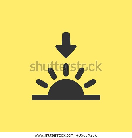 sunset icon. sunset sign - stock vector
