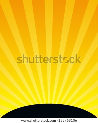 Sunset Vertical Background - stock vector