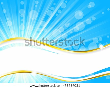 Sunshine banner with transparencies, horizontal (EPS10); jpg version also available - stock vector