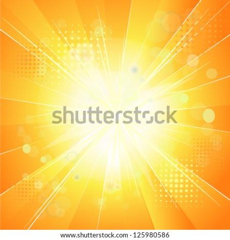 sunshine. vector - stock vector