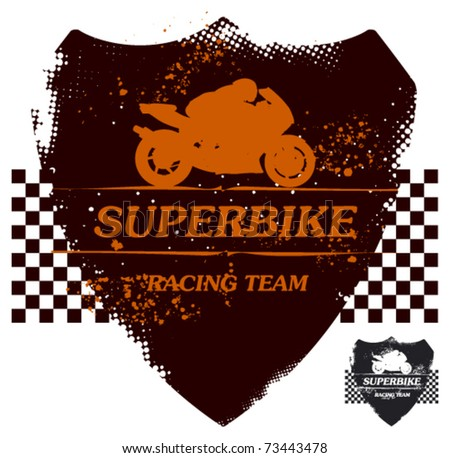 super bike grunge shield in two colors