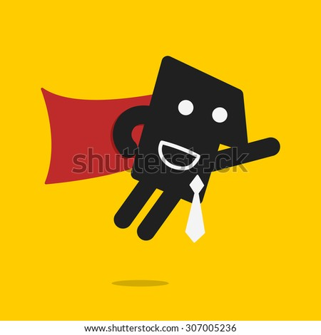 super business - stock vector