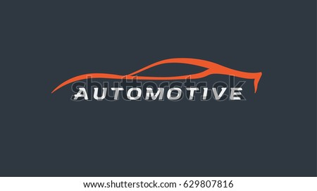 Car Care Car Service Garage Business Stock Vector