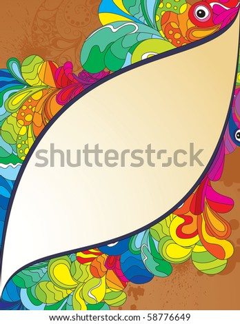 Super colorful composition for your design. Hand drawn illustration. - stock vector