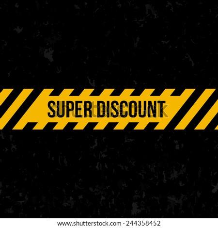 Super discount SALE banner - stock vector