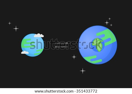 Super-earth concept vector illustration
