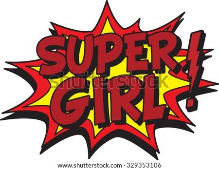 super girl - stock vector