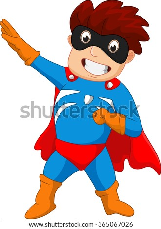 Super hero boy cartoon