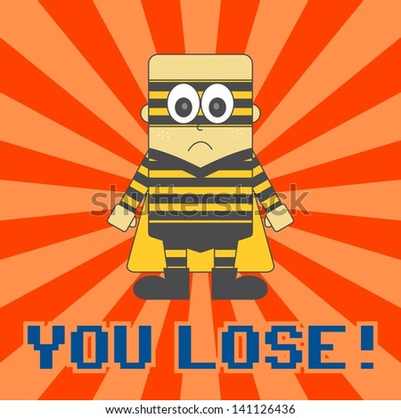 super hero game bee boy - stock vector