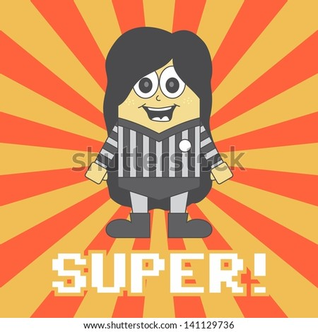 super hero game referee - stock vector