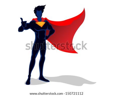Super Hero illustration - stock vector