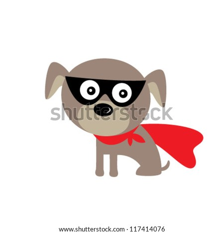 super hero puppy dog - stock vector