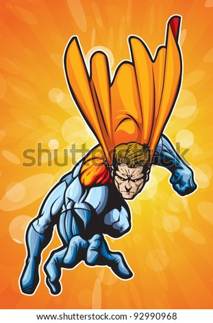 Super human reaching - stock vector