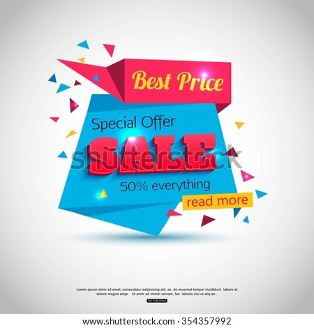 Super Sale Banner Design. Sale Background for your  promotional brochure or booklet, posters, advertising shopping flyers. Best offer. - stock vector