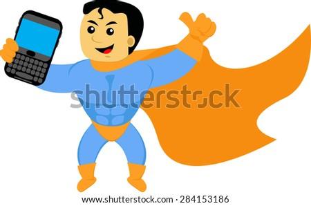 super smartphone - stock vector
