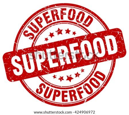 superfood red grunge round vintage rubber stamp.superfood stamp.superfood round stamp.superfood grunge stamp.superfood.superfood vintage stamp. - stock vector