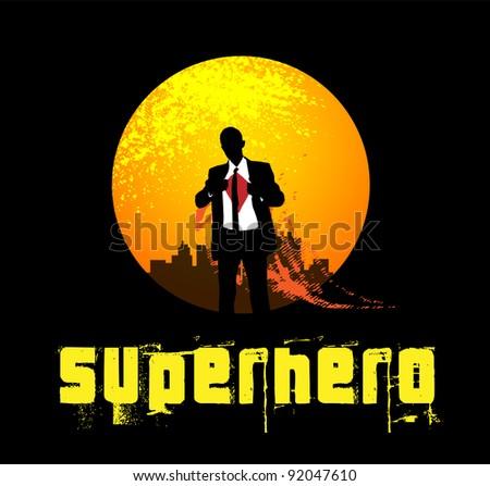 Superhero Background - stock vector