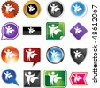Superhero cape web button isolated on a background. - stock photo