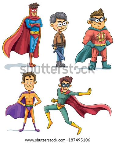 Superhero Collection - stock vector