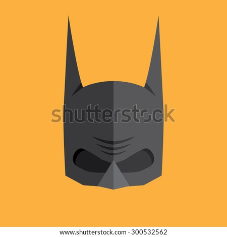 Superhero flat style icon - stock vector