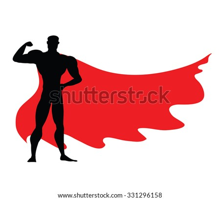 Superhero Icon Vector Black Superhero Silhouette Stock ...
