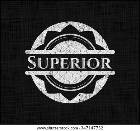 Superior chalkboard emblem - stock vector