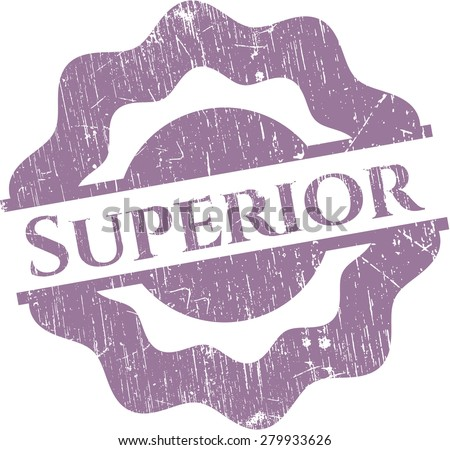 Superior rubber grunge stamp - stock vector