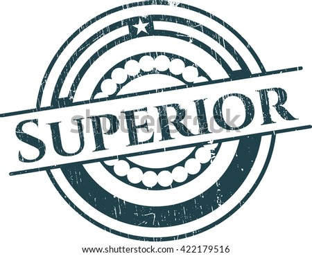 Superior rubber grunge texture stamp - stock vector