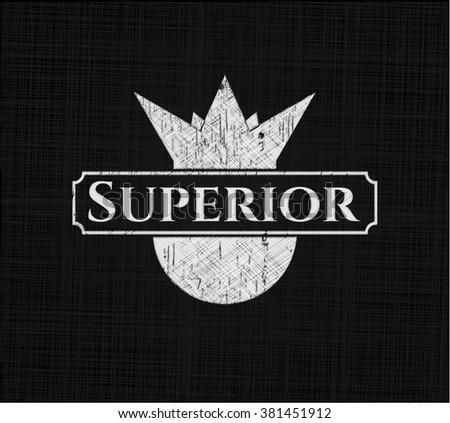 Superior written on a blackboard - stock vector