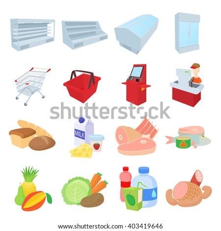 Supermarket icons set. Supermarket set. Supermarket set art. Supermarket set web. Supermarket set new. Supermarket set www. Supermarket set app. Supermarket set big. Supermarket set best - stock vector