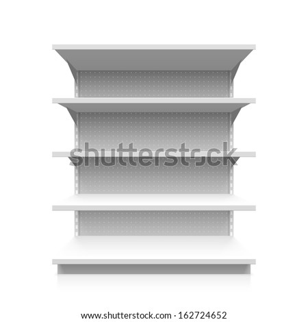 Supermarket shelf. Vector. - stock vector