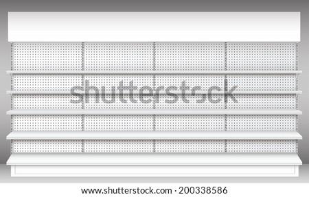 Supermarket shelf. Vector. shelves.  - stock vector