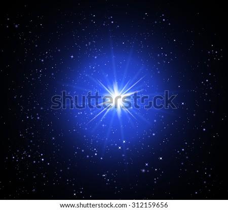 Supernova - stock vector