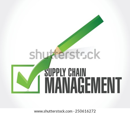 supply chain management check mark illustration design over a white background - stock vector
