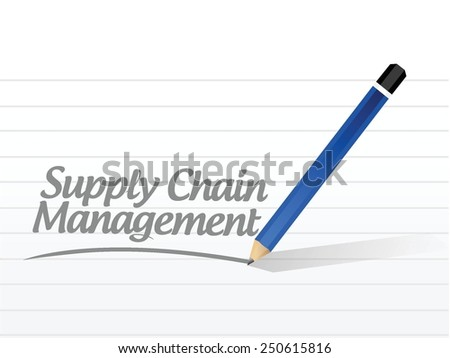 supply chain management message sign illustration design over a white background - stock vector