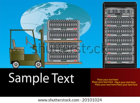 Supplying Global Data Storage - stock vector