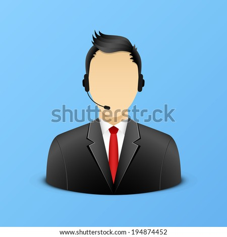 Support assistant illustration eps 10 - stock vector