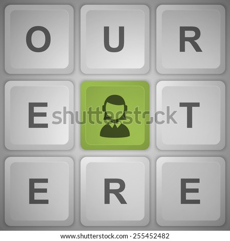 Support button on the keyboard. - stock vector