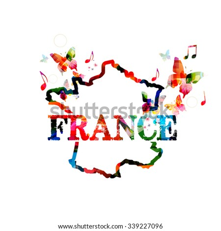 Support for France  - stock vector
