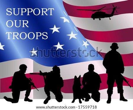 Support our Troops - stock vector