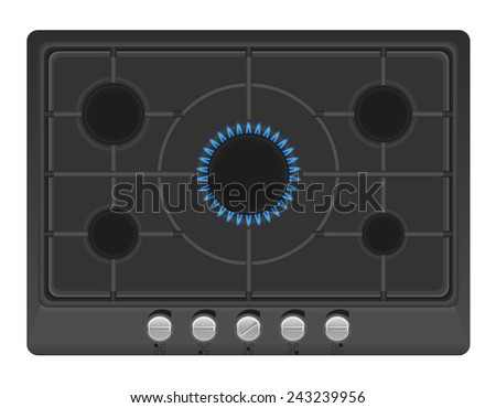 surface for gas stove vector illustration isolated on white background - stock vector
