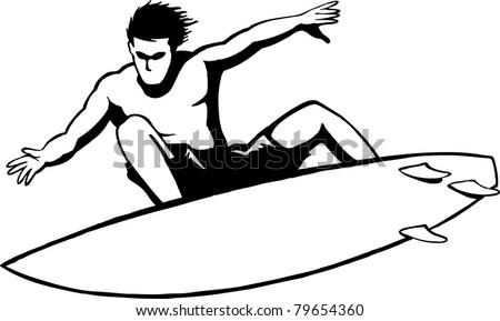surfer bro - stock vector