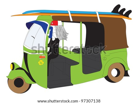 surfer man - stock vector